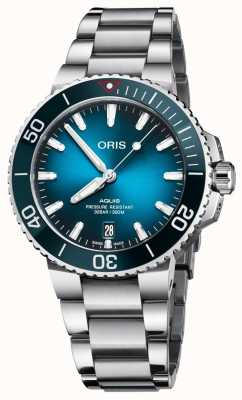 Oris Aquis clean ocean pulseira de aço inoxidável de edição limitada 01 733 7732 4185-SET
