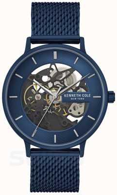 Kenneth Cole | mens automático | alça de malha azul | mostrador azul | KC50780003