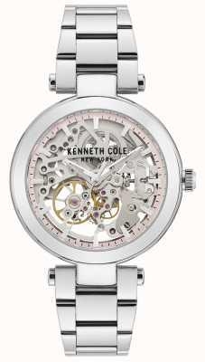 Kenneth Cole | mulheres automáticas | pulseira de aço inoxidável | mostrador prateado KC50799001