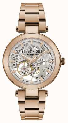 Kenneth Cole | mulheres automáticas | pulseira de ouro rosa | mostrador em ouro rosa | KC50799002