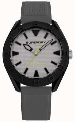 Superdry | mens osaka | pulseira de silicone cinza | mostrador cinza | SYG2432EE