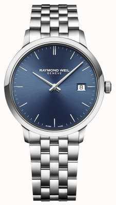 Raymond Weil | mens toccata | aço inoxidável clássico | mostrador azul | 5485-ST-50001