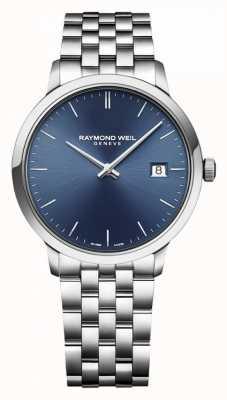 Raymond Weil | toccata para homem | aço inoxidável clássico | mostrador azul | 5485-ST-50001