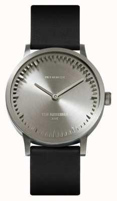 Leff Amsterdam | relógio de tubo | t32 aço pulseira de couro preto | LT74111