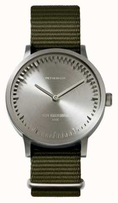 Leff Amsterdam | relógio de tubo | t32 | aço | pulseira verde da OTAN | LT74131