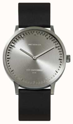 Leff Amsterdam | relógio de tubo | t40 aço pulseira de couro preto | LT75111