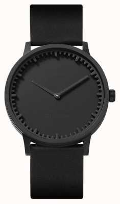 Leff Amsterdam | relógio de tubo | t40 preto pulseira de couro preto | LT75212