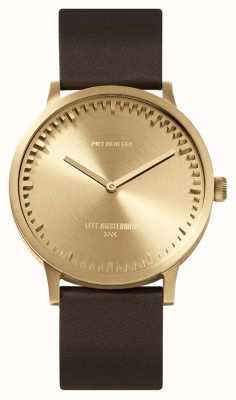 Leff Amsterdam | relógio de tubo | t40 | latão | pulseira de couro marrom | LT75323