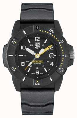 Luminox Selos da Marinha 3600 series | pulseira de borracha preta | mostrador preto XS.3601