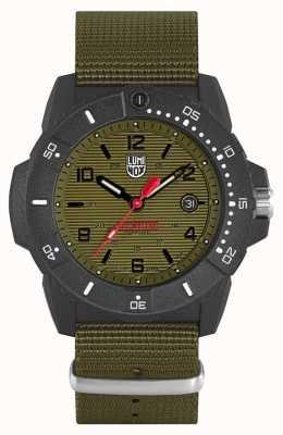 Luminox Selos da Marinha 3600 series | cinta de tecido verde | mostrador preto XS.3617.SET