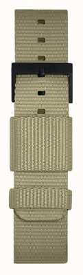 Leff Amsterdam | pulseira cinza da OTAN | fivela preta | LT75052-STRAP