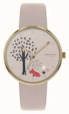 Radley | pulseira de couro nude das mulheres | marcação de árvore e cão | RY2786