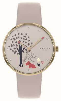 Radley | floresta epping | mostrador de motivos para árvores e cães | couro nu | RY2786