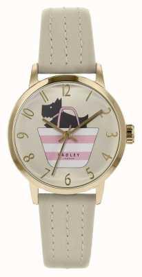 Radley | pulseira de couro cinza das mulheres | cão impresso no mostrador de saco | RY2790