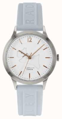 Radley | pulseira de silicone azul em pó para mulheres | mostrador branco | RY2819