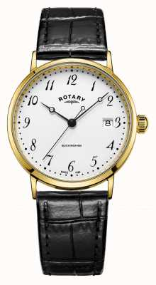 Rotary Mens 9ct caso de ouro buckingham assistir GS11476/18