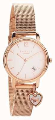 Radley | bracelete de malha de ouro rosa para mulher | mostrador em ouro rosa | RY4390