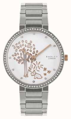 Radley | pulseira de aço inoxidável para mulher | mostrador de motivo de árvore | RY4387