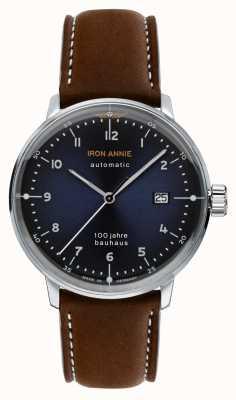 Iron Annie Bauhaus automático | pulseira de couro marrom | 5056-3