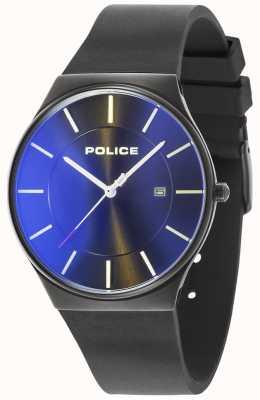 Police Mens novo horizonte relógio pulseira de silicone preto 15045JBCB/02PA