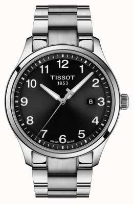 Tissot | mens xl classic | pulseira de aço inoxidável | mostrador preto | T1164101105700