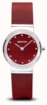 Bering Mulheres | clássico pulseira de malha de aço pvd vermelho 10126-303