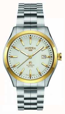 Roamer | rd100 automático | pulseira de aço inoxidável | mostrador branco | 951660 47 15 90