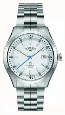 Roamer | rd100 automático | pulseira de aço inoxidável | mostrador branco | 951660 41 25 90