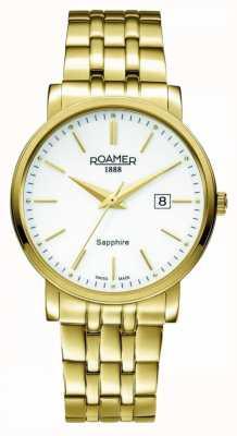 Roamer Linha clássica | banhados a ouro inox | mostrador branco 709856-48-25-70