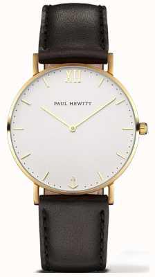 Paul Hewitt | linha de marinheiro unissexo relógio | pulseira de couro preto | 6450854