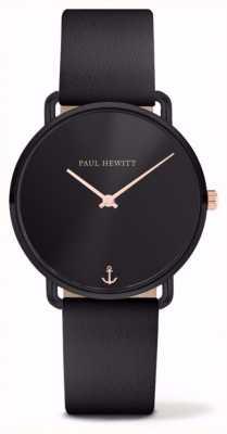 Paul Hewitt | senhoras sentem falta do oceano | pulseira de couro preto | PH-M-B-BS-32S