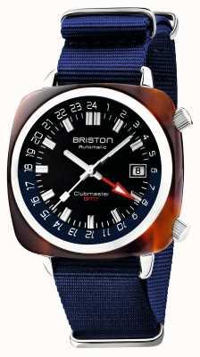 Briston Edição limitada do Clubmaster gmt | automático | bracelete azul da nato 19842.SA.T.9.NNB