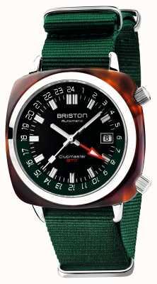 Briston Edição limitada do Clubmaster gmt | auto | pulseira verde da OTAN 19842.SA.T.10.NBG