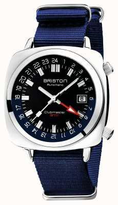 Briston Edição limitada do Clubmaster gmt | auto | bracelete azul da nato 19842.PS.G.9.NNB