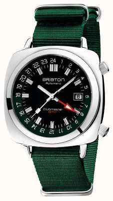 Briston Edição limitada do Clubmaster gmt | auto | pulseira verde da OTAN 19842.PS.G.10.NBG