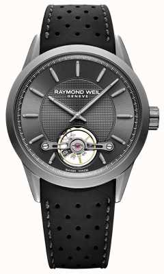 Raymond Weil Mens | freelancer | automático | mostrador cinza | borracha preta 2780-TIR-60001