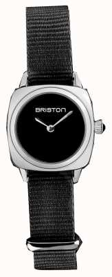Briston | senhora do clubmaster | correia preta da OTAN preta | mostrador preto | 19924.S.M.1.NB - SINGLESTRAP