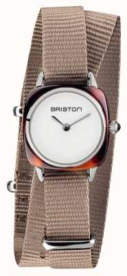 Briston | senhora do clubmaster | taupe nato | acetato de tartaruga | 19924.SA.T.2.NT - DOUBLESTRAP