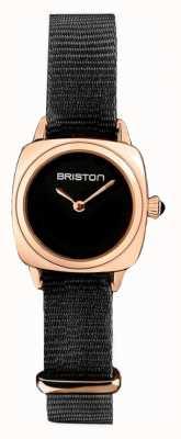 Briston | senhora do clubmaster | OTAN preta única | caso do pvd do ouro cor-de-rosa | 19924.SPRG.M.1.NB - SINGLESTRAP