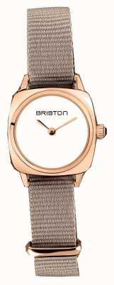 Briston | senhora do clubmaster | OTAN taupe único | caso do pvd do ouro cor-de-rosa | 19924.SPRG.M.2.NT - SINGLESTRAP