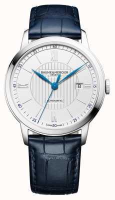 Baume & Mercier | mens classima | automático | couro azul | mostrador prateado | BM0A10333