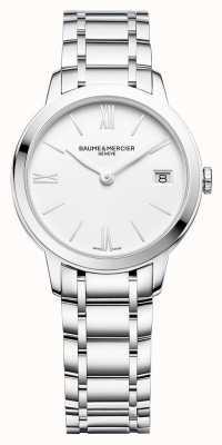 Baume & Mercier | classima das mulheres | pulseira de aço inoxidável | mostrador branco | BM0A10335