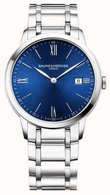 Baume & Mercier | mens classima | pulseira de aço inoxidável | mostrador azul | BM0A10382