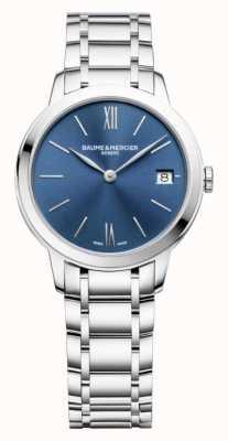 Baume & Mercier | classima das mulheres | aço inoxidável | mostrador azul sunray | BM0A10477