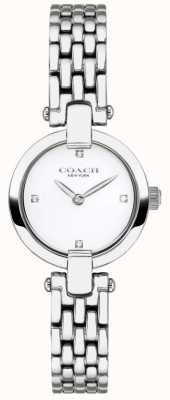 Coach | mulheres | chrystie | pulseira de aço | mostrador branco | 14503390