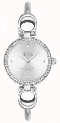 Coach | mulheres | parque | pulseira de aço | mostrador branco | 14503448