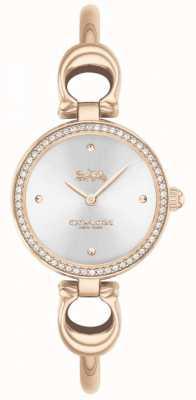 Coach | mulheres | parque | pulseira de ouro rosa | mostrador prateado | 14503447