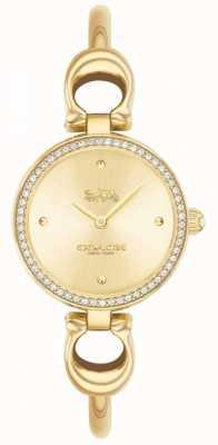 Coach | mulheres | parque | pulseira de ouro pvd | mostrador de ouro | 14503446
