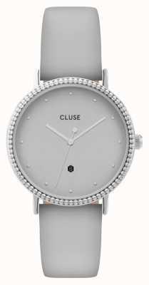 CLUSE | le couronnement | pulseira de couro cinza | mostrador cinza | CL63004