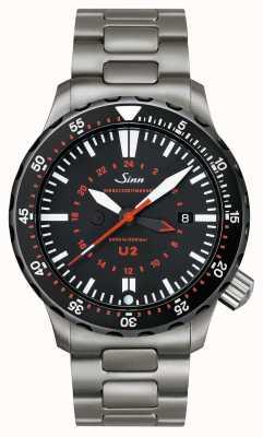 Sinn Temporizador de missão U2 sdr u-boat steel 1020.040bracelet